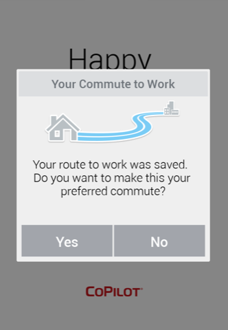Commute-save-popup